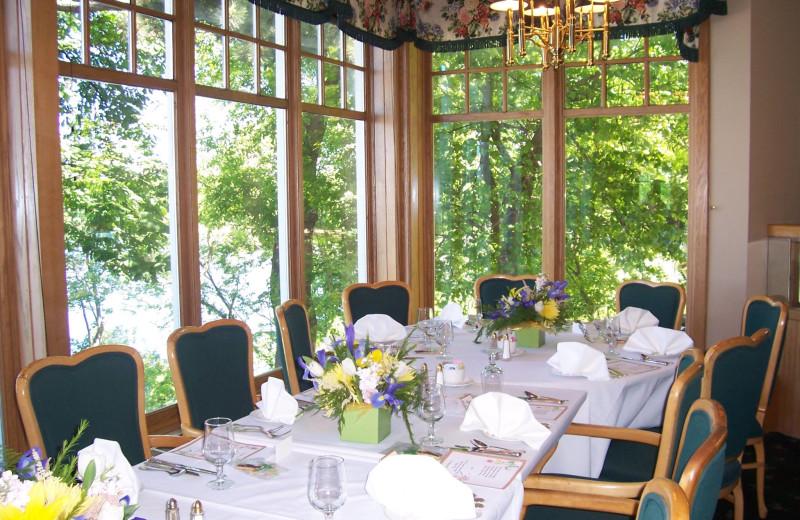 Dining room at The Geneva Inn.