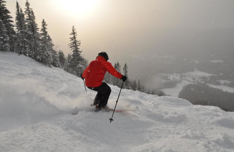 Skiing at Fairmont Le Manoir Richelieu.