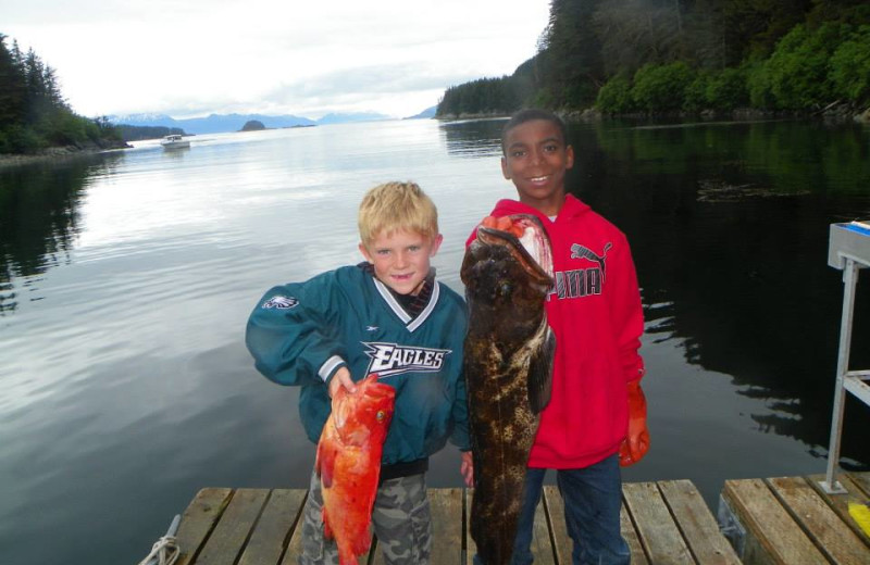 Fishing at Elfin Cove Resort.
