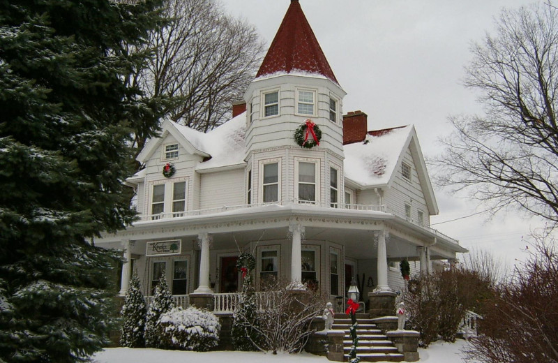 Winter exterior at The Kingsley House.