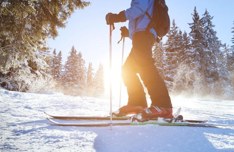 Skiing at Thomsonite Beach Inn & Suites.