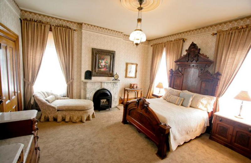 Guest room at Victorian Mansion.