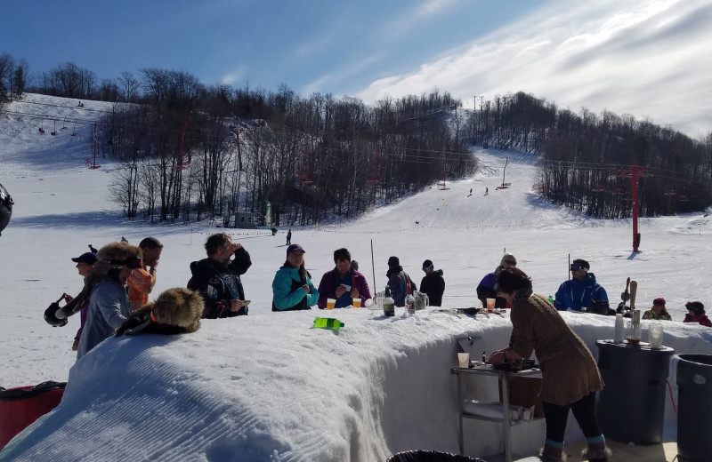 Snow bar at Big Powderhorn Mountain Resort.