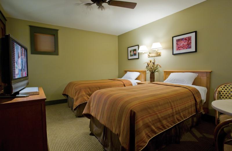 Guest room at Tamarack Lodge.
