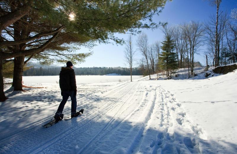 Snow shoeing at Rabbit Hill Inn.