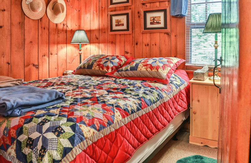 Rental bedroom at Hampel Properties.