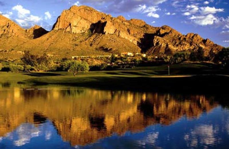 Mountain view at Hilton Tucson El Conquistador Golf & Tennis Resort.