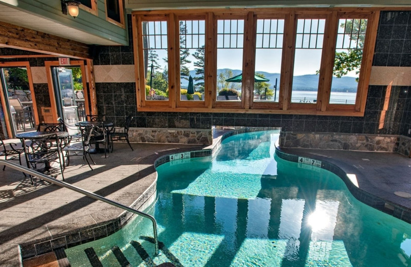 Indoor pool at The Lodges at Cresthaven on Lake George.