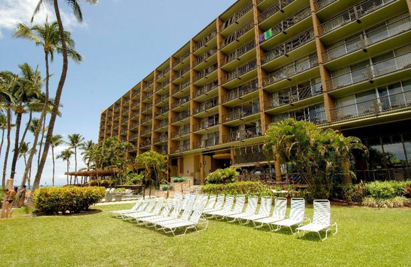 Sun chairs at Mana Kai Maui.