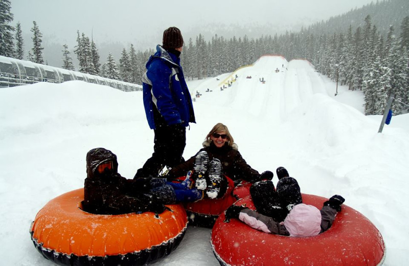 Snow tubing at Rocky Mountain Resort Management.