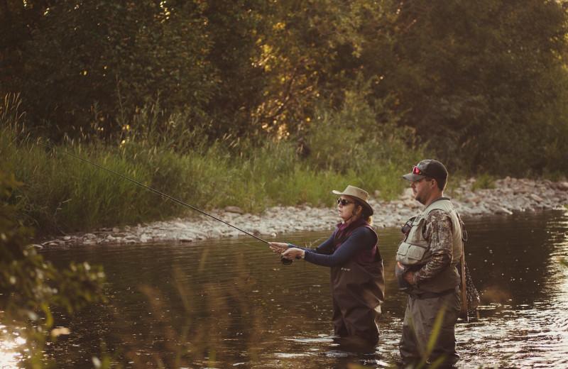 Fishing at Vee Bar Guest Ranch.