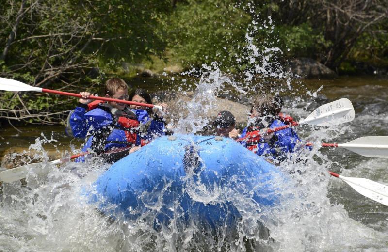 Rafting at Three Rivers Resort.