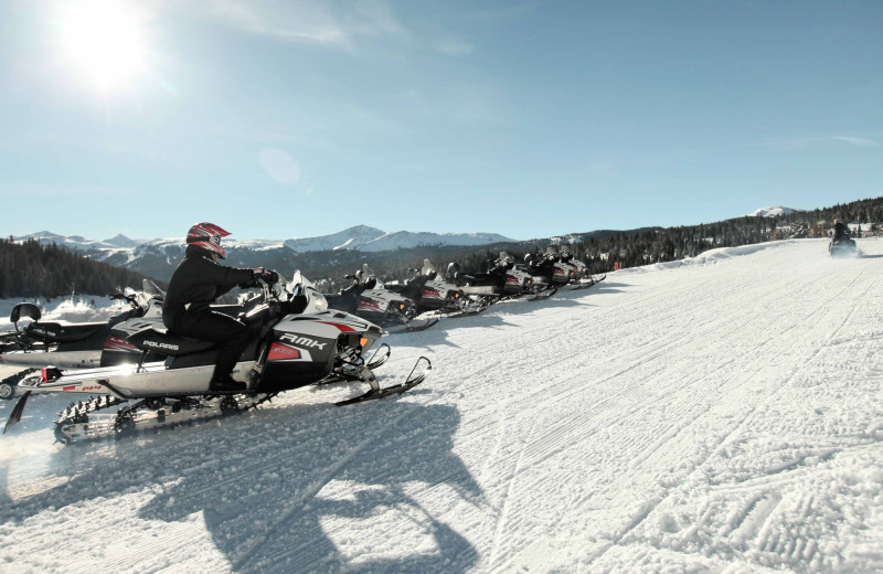 Snowmobile Trails at Aspen Canyon Ranch