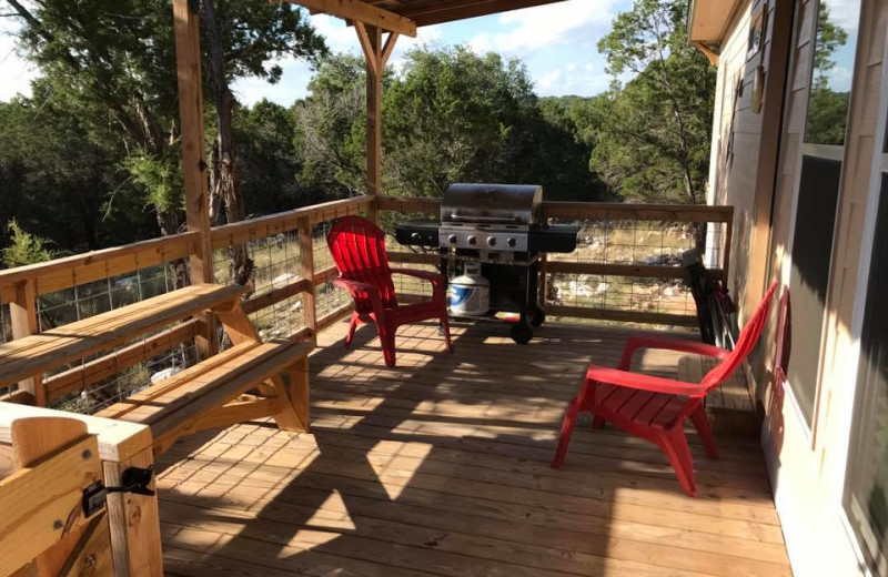 Rental porch at River City Resorts.