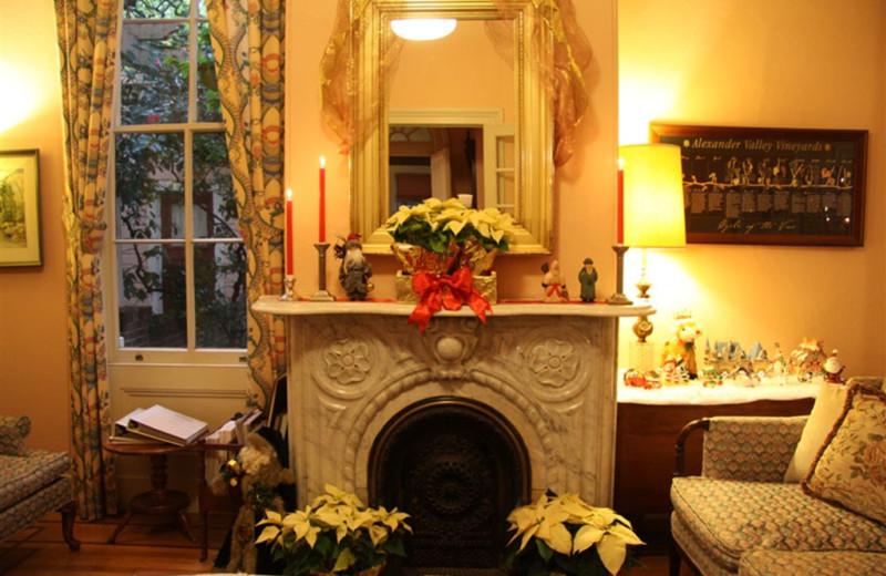 Holiday decor at Camellia Inn.