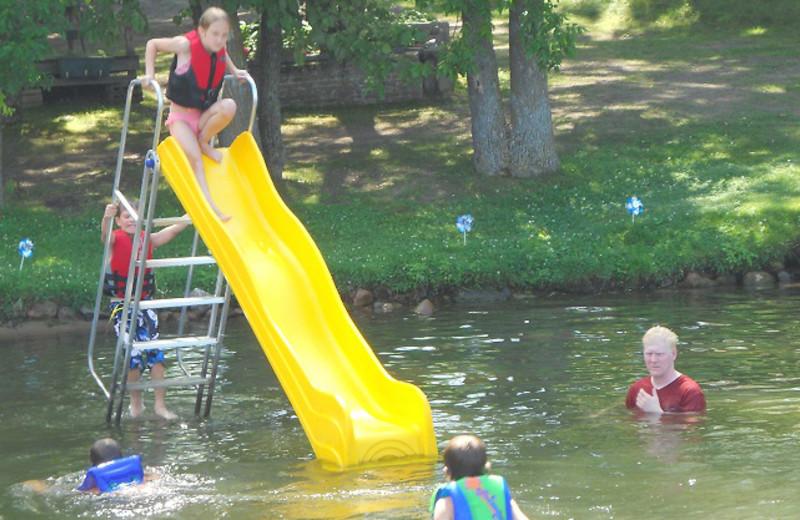 Lake slide at SweetWater Resort.
