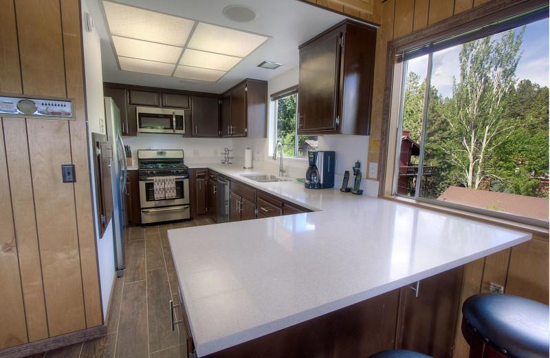 Rental kitchen at Lake Tahoe Accommodations.