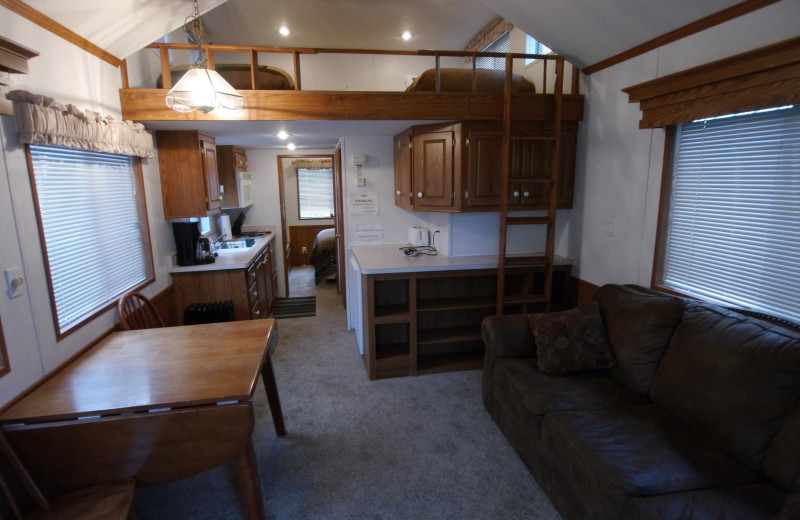 Cabin interior at Gwin's Lodge & Kenai Peninsula Charter Booking Service.