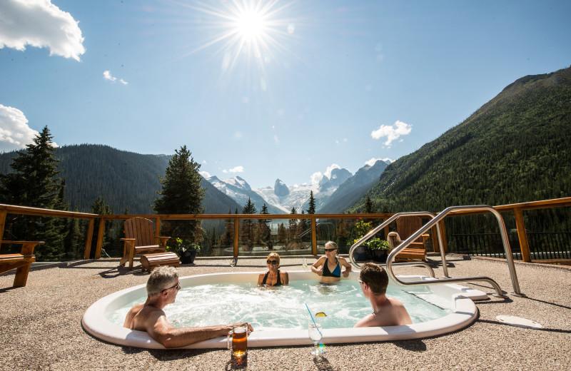Hot tub at CMH Bugaboos Lodge.