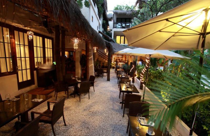 Patio at La Tortuga Hotel and Spa.