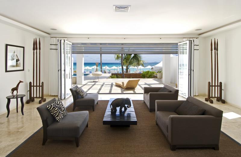 Vacation rental living room at Coral Beach Club.