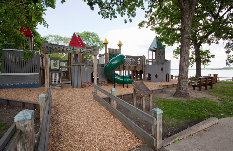 Kids playground at Spicer Green Lake Resort.