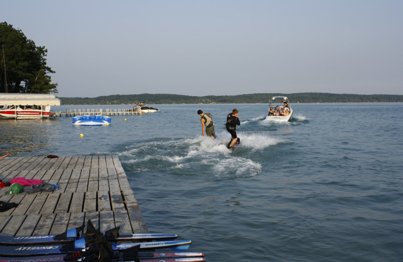 Water skiing at White Birch Lodge.
