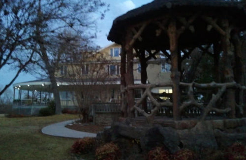 Gazebo in the Evening at Haven River Inn
