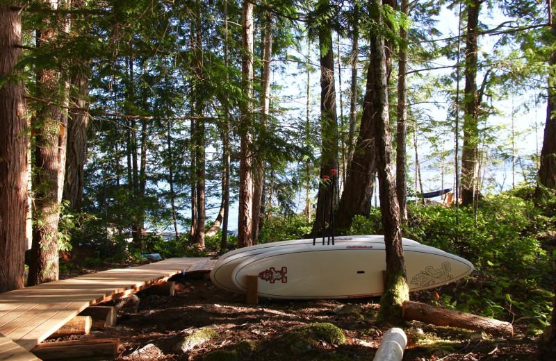 Paddle boards at Cabana Desolation Eco Resort.