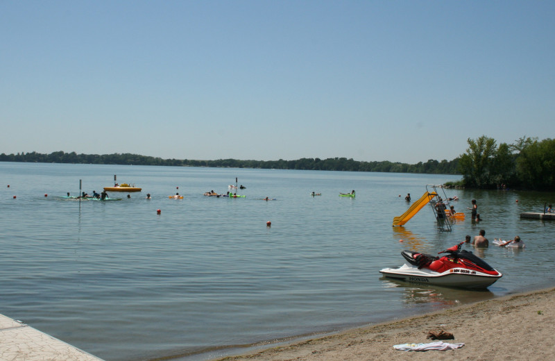 Beach at Ten Mile Lake Resort -Otter Tail Country Lakes Tourism.