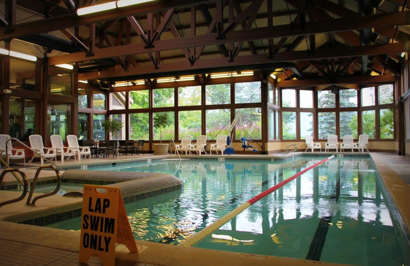 Indoor pool at Crystal Mountain Resort and Spa.