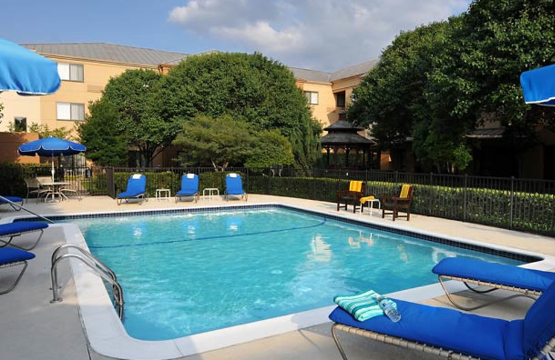 Outdoor pool at Courtyard by Marriott Fort Worth Fossil Creek.