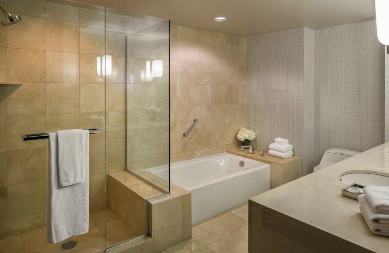 Suite bathroom at Manchester Grand Hyatt San Diego.