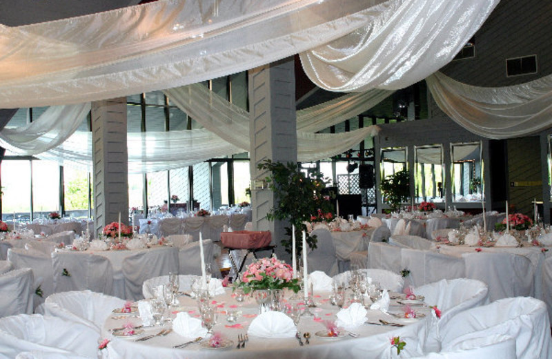 Wedding setup at Villa Roma Resort.