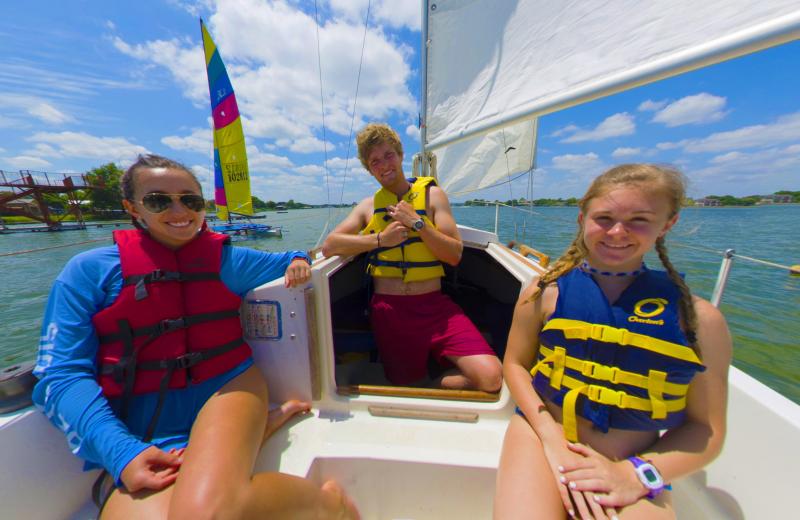 Sailing at Camp Champions on Lake LBJ.