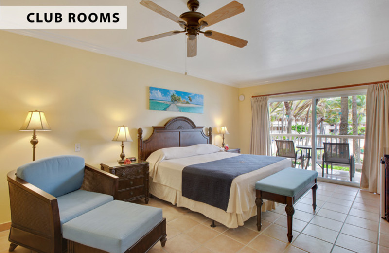 Guest room at St. James Club & Villas.