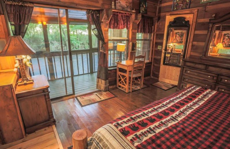 Rental bedroom at Wilderness View Cabins.
