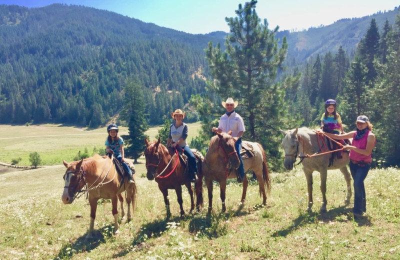 Horseback riding at Red Horse Mountain Ranch.