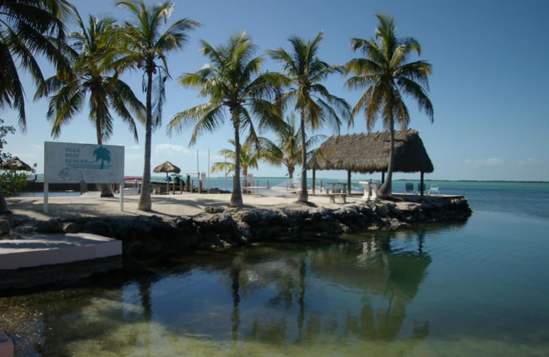 The beach at Rock Reef Resort.
