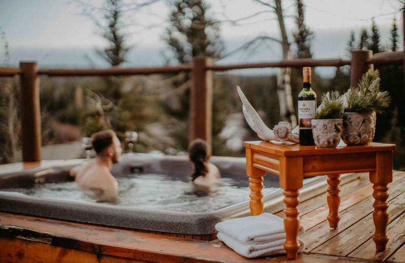 Hot tub at Big Creek Lodge.