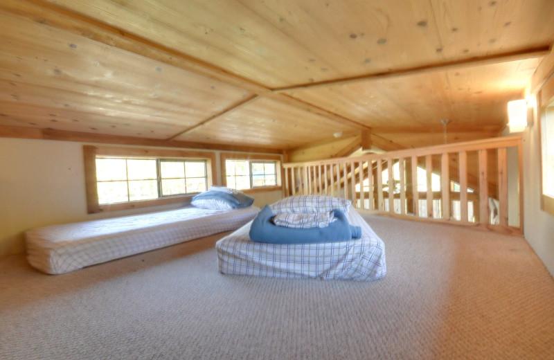 Cottage loft at Mill Creek Ranch Resort.
