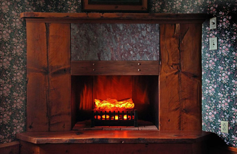Guest fireplace at Albergo Allegria.