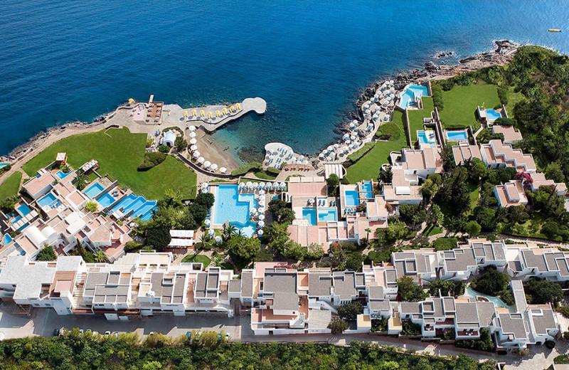 Aerial view of St. Nicolas Bay.