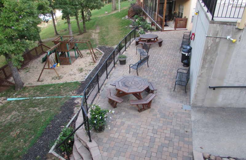 Patio at Vickery Resort On Table Rock Lake.