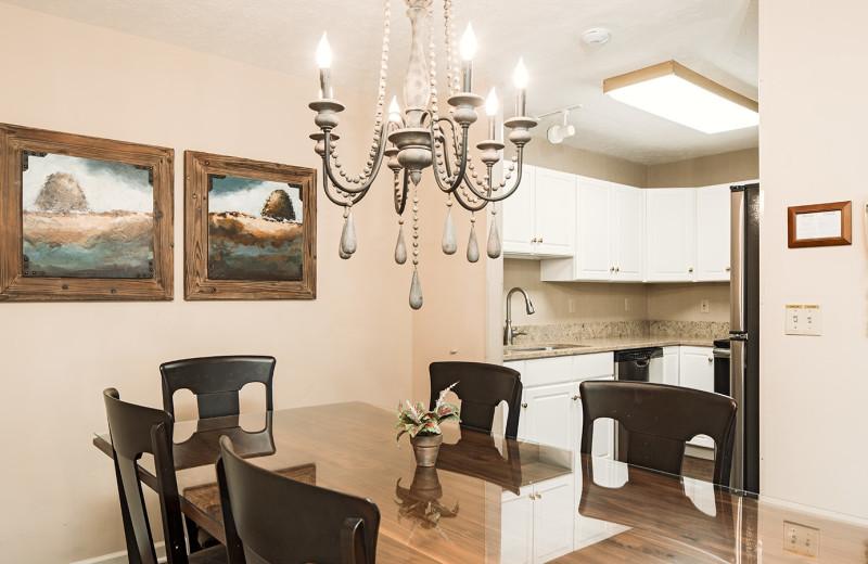 Guest kitchen at Woodloch Resort.