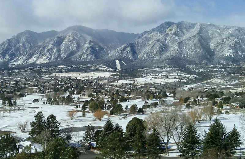 Winter time at Cheyenne Mountain Resort.