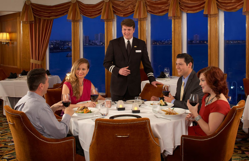 Dining at Queen Mary Hotel.