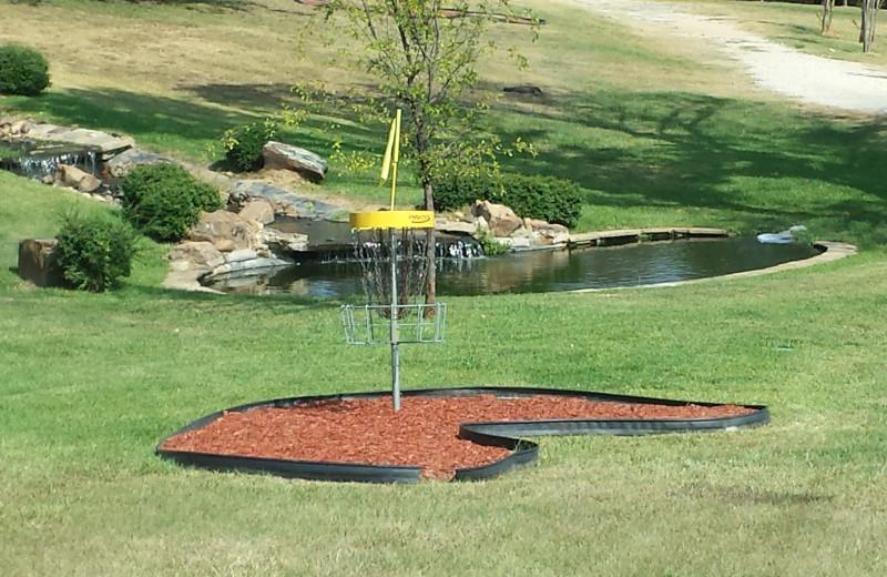 Disc golf at Mill Creek Ranch Resort.