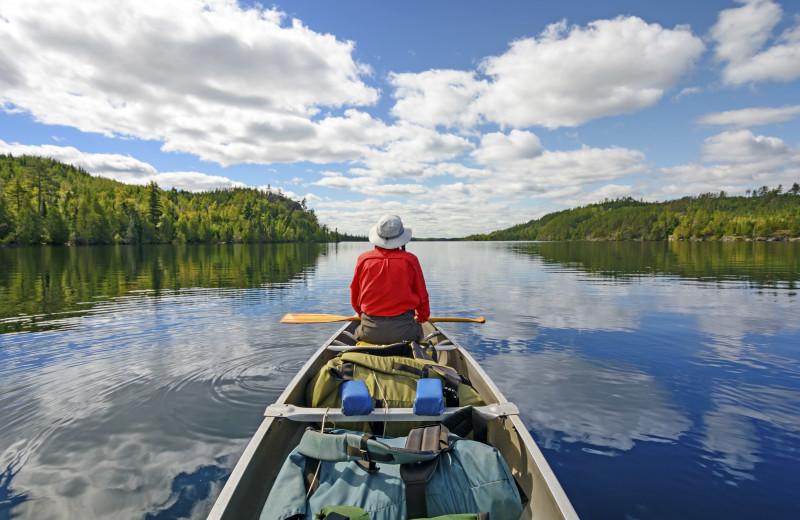 Canoeing at River Bend's Resort & Walleye Inn.