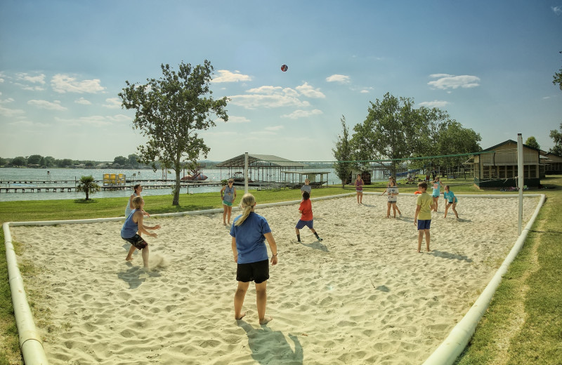 Volleyball at Camp Champions on Lake LBJ.
